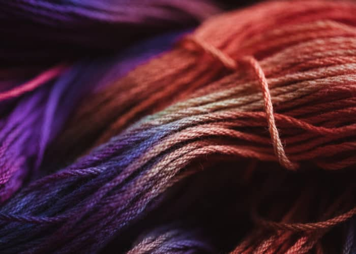Hand-dyed cotton warp
