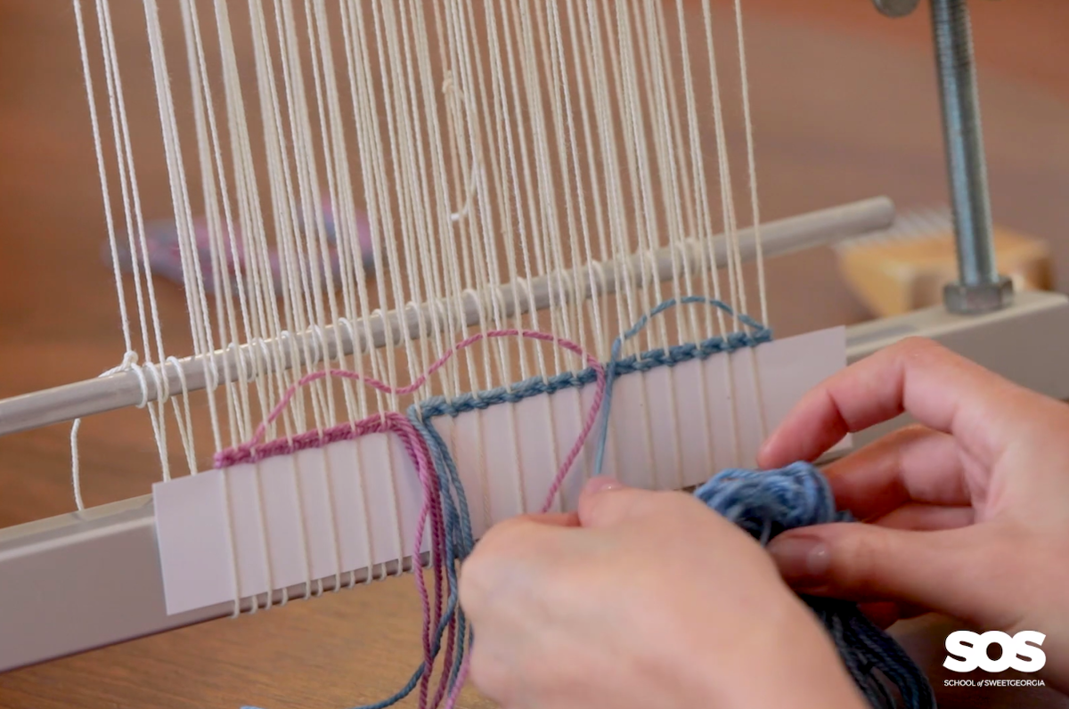 Tapestry weaving course taught by Janna Maria Vallee at the School of SweetGeorgia