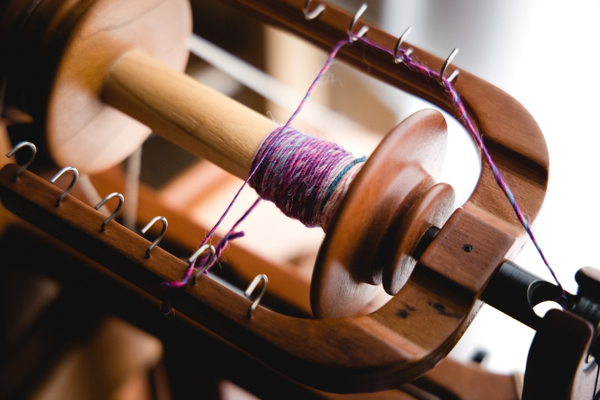 Spinning Intentional Colour handspun sample by Felicia Lo Wong